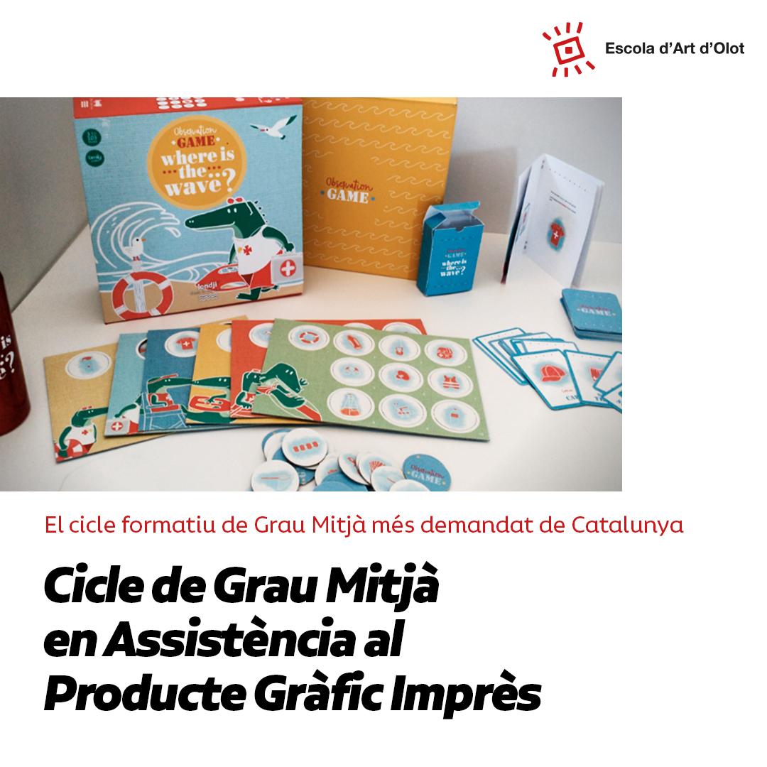 Cursa El CFGM D'Assistència Al Producte Gràfic Imprès A L'Escola D'Art D'Olot!