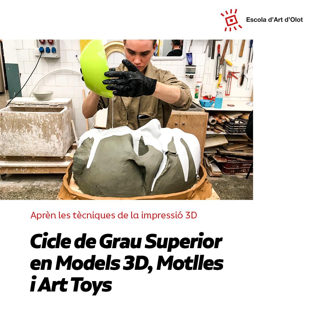Aprèn A Crear Models 3D, Motlles I Art Toys A L'Escola D'Art D'Olot!